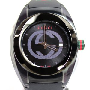 GUCCI グッチ SYNC シンク クォーツ ユニセックス 腕時計 YA137107 ブラック /中古/美品/質屋出店/MT2883|koera