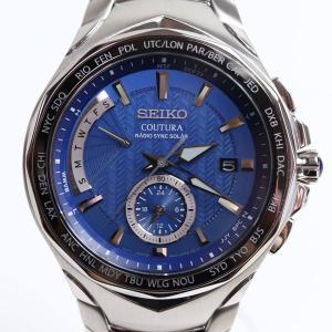セイコー SEIKO コーチュラ 電波ソーラー ワールドタイム メンズ腕時計 SSG019/8B63-OAKO CUTURA /未使用品/買取品/質屋出店/MT2914海外モデル|koera