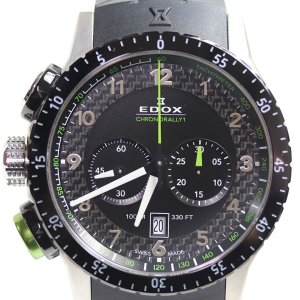 EDOX エドックス Chronorally 1クロノラリー1クロノグラフ 10305-3NV-NV/中古/MT2935|koera