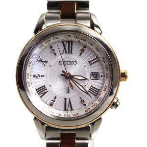 セイコー SEIKO LUKIA ルキア ラッキーパスポート 電波ソーラー レディース腕時計 SSQV020/1B25-0AP0/中古/質屋出店/MT2924|koera