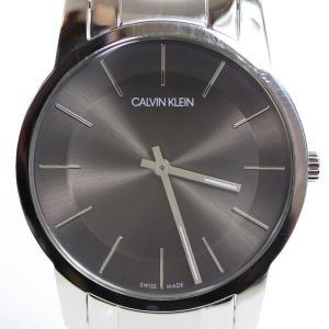 カルバンクライン Calvin Klein Ckメンズ 腕時計 43mm グレー文字盤 クオーツシティ  K2G211/中古/MT2929|koera