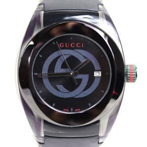 MT3114 GUCCI グッチ SYNC シンク クォーツ ユニセックス 腕時計 137.1 YA...