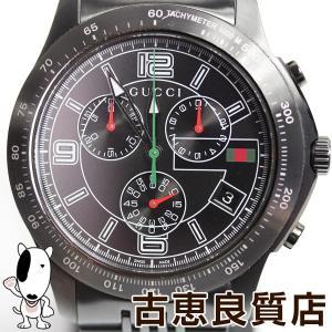 1cab5edd63a7 MT1330 中古 腕時計 GUCCI グッチ Gタイムレス クロノグラフ YA126217 クォーツ メンズ 腕時計 SS ステンレススチール (SS)質屋出店