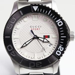 GUCCI グッチ 126.2 Gタイムレス メンズ クオーツ メンズ 腕時計 45ミリ シルバー文...