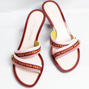 5cc9d876c3cc LV lv ルイヴィトン LOUIS VUITTON ミュール レディース 女性靴 サンダル キャンバス/マルチカラー 37  約23.5cm/質屋出店あすつく/未使用/買取品