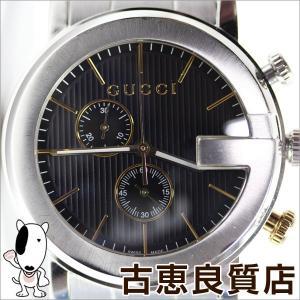 グッチ GUCCI 101M Gクロノ クロノグラフ YA101362 メンズ ブラック文字盤 腕時計 クォーツ/中古/質屋出店/あすつく/MT1060|koera