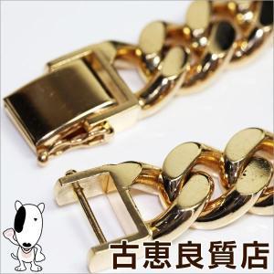 K18 2面喜平 ブレスレット 152.4g 約22cm ゴールド イエローゴールド/中古/あすつく/MN1176|koera