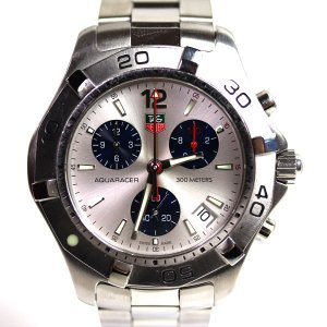 TAG Heuer タグホイヤー AQUARACER アクアレーサー クロノグラフ クォーツメンズ腕時計 CAF1111.BA0803/中古/MT2818|koera