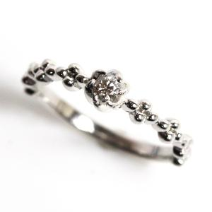 K10WG 指輪 ホワイトゴールドダイヤモンドリング レディース D0.06 1.6g リングサイズ9号 /中古/MR3197|koera