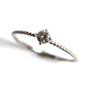 K10WG 指輪 ホワイトゴールドダイヤモンドリング レディース D0.1 0.6g リングサイズ10号 /中古/MR3199|koera