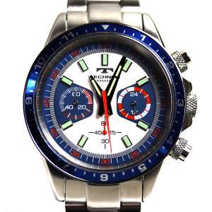 TECHNOS テクノス メンズウォッチ 10気圧防水 クロノグラフ メンズ QZ クォーツ 腕時計 T4377/中古/MT2893|koera