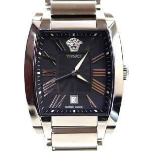ヴェルサーチ VERSACE メンズ腕時計 キャラクタートノー 黒文字盤 WLQ99 クオーツ/中古/質屋出店/MT2907|koera