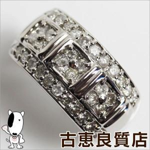 Pt プラチナ リング 指輪 ダイヤ.1.00ct 6.6g サイズ18.5号/中古/あすつく/MR1182|koera