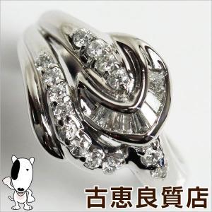 Pt プラチナ リング 指輪 Pt900 D.0.50ct 7.3g サイズ14号 デザインリング/中古/あすつく/MR1193|koera