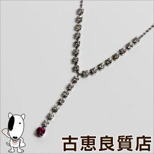 展示未使用品/K18WG ホワイトゴールド ネックレス ルビー0.13ct ダイヤ0.8ct 3.3g 45cm TW-631/買取品/質屋出店/あすつく/MN1071|koera