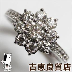 【商品名】ホワイトゴールド ダイヤ1.14ctリング  【素材】K18WG  【刻印】K18WG 1...