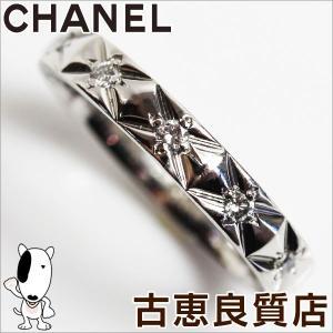 シャネル CHANEL マトラッセ プラチナ Pt950 サイズ約16.5号 ダイヤ11P 5.3g/中古|koera