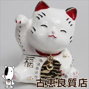 新品/未使用品/ジュエリーボックス 宝石箱 招き猫 ホワイト EX280-1  ジュエリーケース インテリア 小物 プレゼント/買取品/質屋出店/あすつく|koera