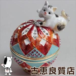 新品/未使用品/毬と猫 EX543-1 ジュエリーケース ジュエリーボックス 宝石箱 インテリア 小物/買取品/質屋出店/あすつく|koera