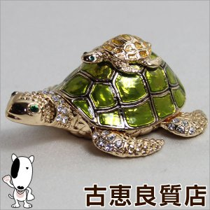新品/未使用品/宝石箱 カメ 231-1 ジュエリーケース/買取品/質屋出店/あすつく|koera