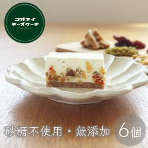 レアチーズケーキ スイーツ 無糖 低糖質 ドライフルーツ 6個セット いちじく マンゴー アプリコット クランベリー...