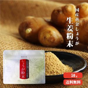 黄金しょうが粉末 50g 高知県産 ゆうパケット送料無料 ジンジャー パウダー 蒸ししょうが 乾燥生...