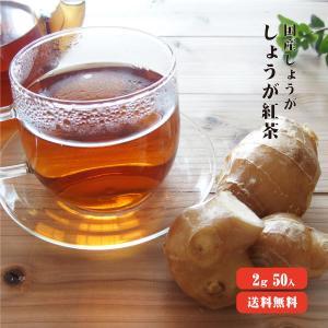 しょうが紅茶 100g (2g×50) ゆうパケット送料無料 紅茶 生姜 大容量 お得パック ショウガオール|koganenosato