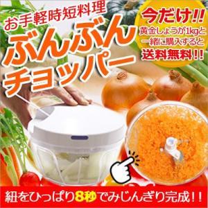 ぶんぶんチョッパー&黄金しょうが1kg 簡単酢生姜セット 送料無料 時短調理 野菜 しょうが|koganenosato