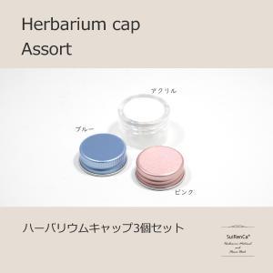 ハーバリウム アルミ カラー アクリル キャップ3個入 アソート CAP-A|koh5533