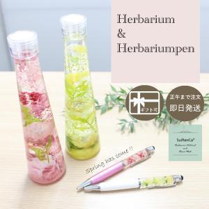 ハーバリウム ギフト ボールペンセット タッチペン機能付き 贈り物 花 SRCG-PE スイレンカ|koh5533