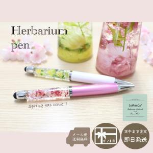 ハーバリウムボールペン タッチペン機能付き  選べるカラー 春 花 ギフト SRCP-SP|koh5533
