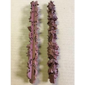 紫檀製 飾り柱 コーナー用 手彫り木工部品|kohama-butsudan