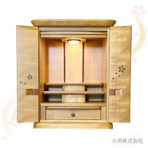 国産上置仏壇 クレア 18号 桜 花入(桜の象嵌入り)|kohama-butsudan