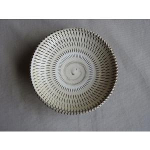 小鹿田焼き(おんたやき) 4寸皿(4)|kohanchawanhaduki
