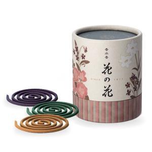 お香 インセンス 日本香堂 ばら・ゆり・すみれの香り コイル型「香水香花の花 3種入 CL12巻入」|kohgallery