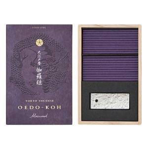 お香 日本製 日本香堂 伽羅の香り インセンス  大江戸香 伽羅姫(きゃらひめ) 60本入|kohgallery