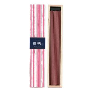 お香 日本香堂 日本製 白桃の香り インセンス「かゆらぎ 白桃 スティック40本入」|kohgallery