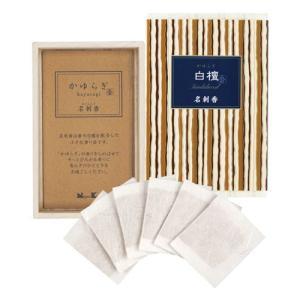 名刺香 香り袋 「かゆらぎ 白檀 桐箱6入」|kohgallery