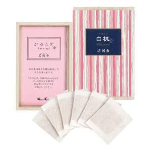 名刺香 香り袋 「かゆらぎ 白桃 桐箱6入」 kohgallery