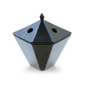縁香炉 麻文様 黒|kohgallery