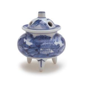 香炉 「3号 染付山水 九谷焼」|kohgallery