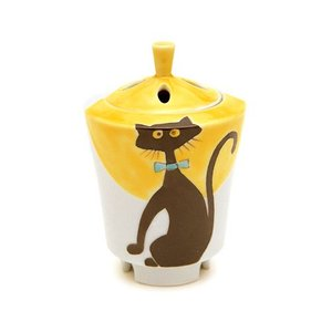 香炉 「黒猫 九谷焼」|kohgallery