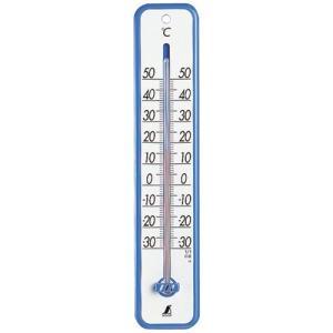 シンワ測定  シンワサーモメーター 30cm ブルー
