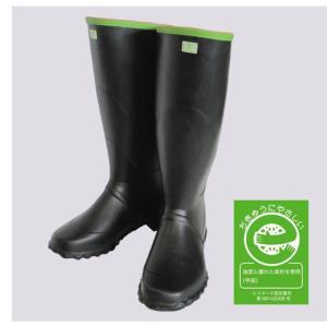 実用大長F型 黒 長靴 紳士 メンズ 裏布なし エコマーク認定品 弘進 KOHSHIN|kohshin-shop
