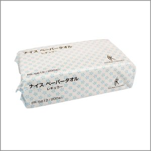 ナイスペーパータオル レギュラー(中判 210×225mm)6000枚(200枚×30袋) | ファーストレイト社|koichi