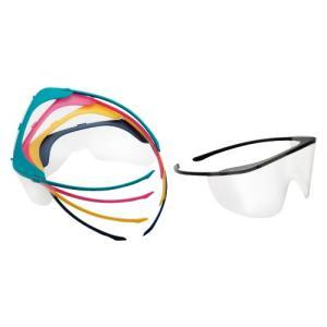 ディスポ アイシールド UNIVET712  フレーム&レンズのセット (フレーム5本、レンズ20枚) 防曇加工 メガネ併用可能 感染予防 ※お取り寄せ品|koichi
