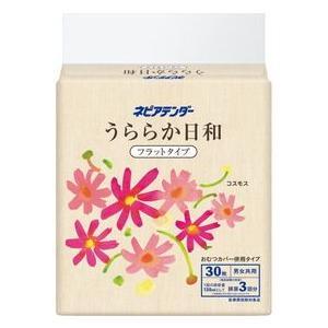【段ボール1ケースでの配送】ネピア テンダーうららか日和 フラットタイプ1袋(30枚入)×4|koichi