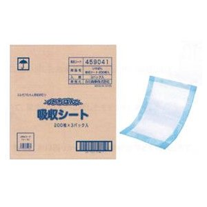 エルモア いちばん 吸収シート 1袋 200枚入×3 介護用 大人用 尿とり パッド【段ボール1ケースでの配送・送料無料】|koichi