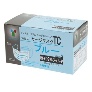 【値下げ】竹虎 サージマスクTC ブルー 9×17 50枚入 ◆宅配便でのお届けのみ◆|koichi