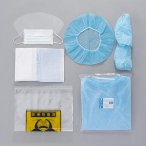 竹虎 ケモセット(スタンダード)10セット 抗がん剤曝露対策 マスク キャップ シューカバー マット 袋 ガウンのセット|koichi